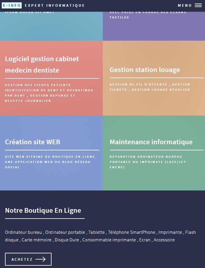 Site HTML 5 et CSS3